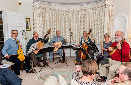 Lachrimae Consort performing in an 'at home' private function