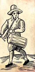 A piper/drummer from 1600